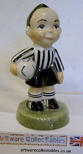 Carlton Ware Kids - Footballer - 195/1000 - Black & White Strip - SOLD